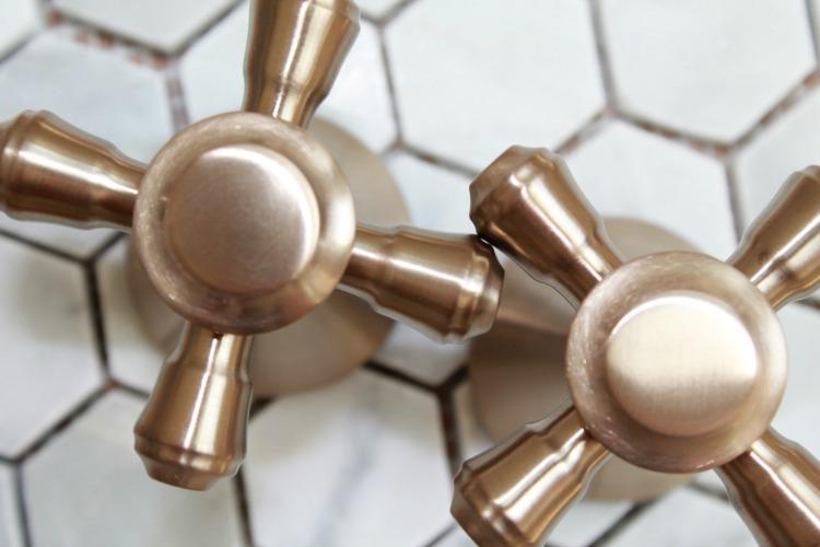 Delta Faucet Cidy Cross Handles Bathroom Champagne Bronze