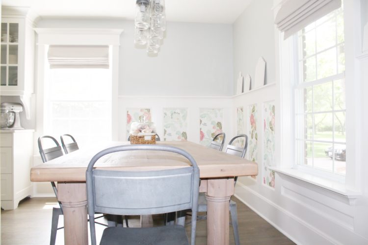 farmhouse_kitchen_pottery_barn_table_exeter_chandelier_wainscoting