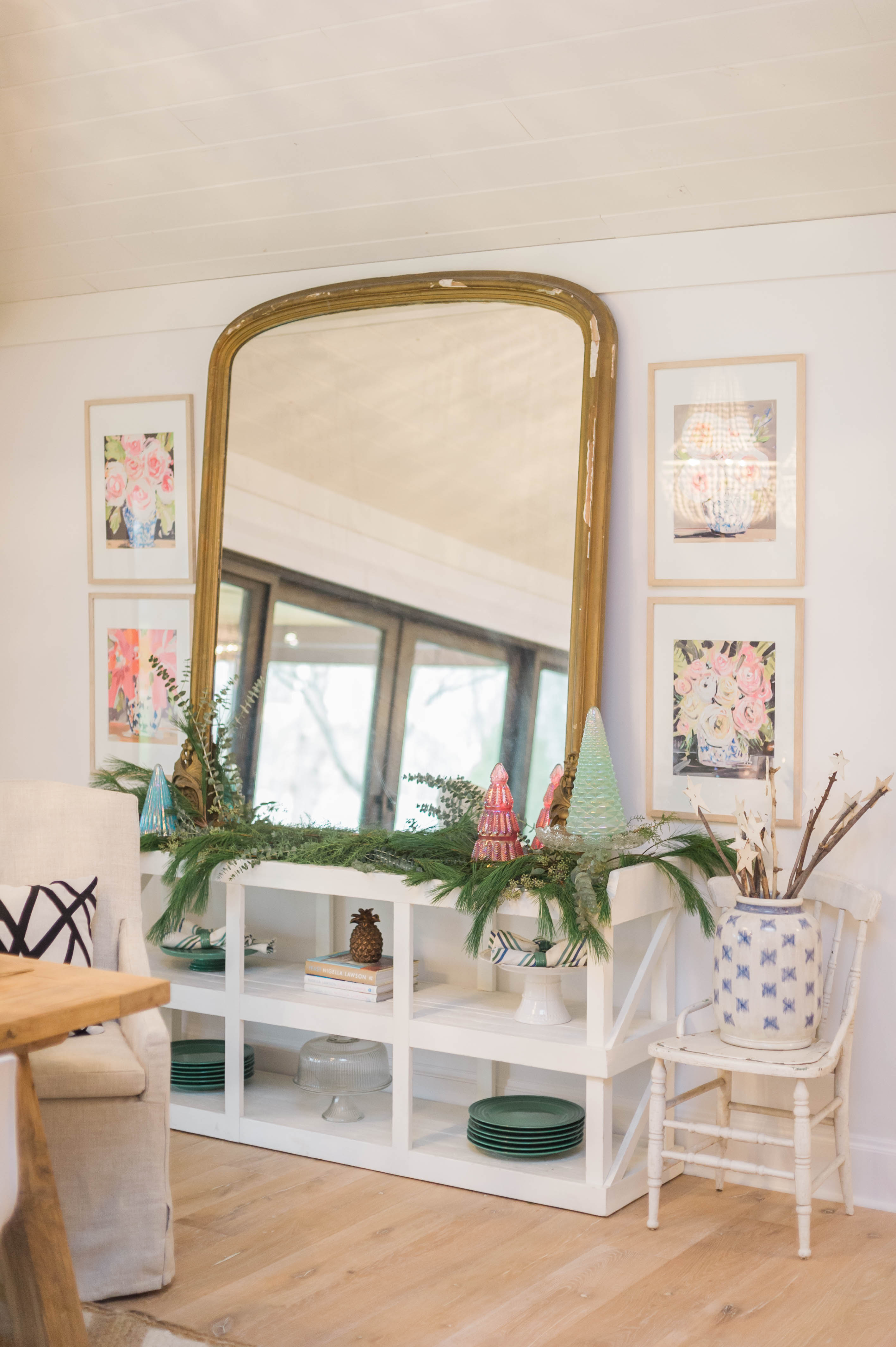 antique_leaner_mirror_vintage_modern_christmas
