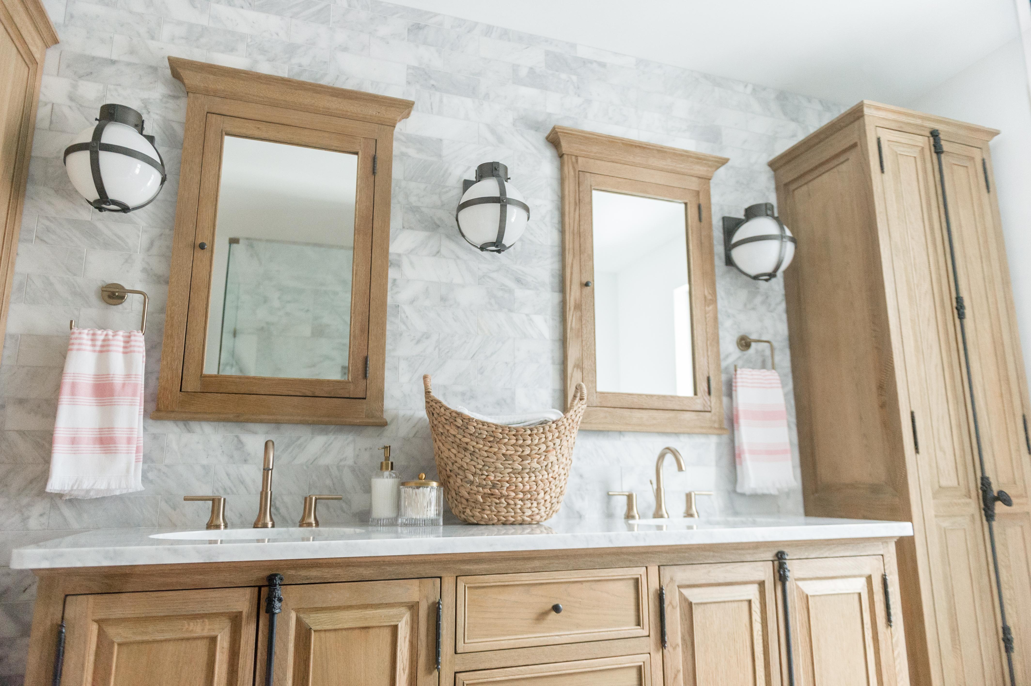 Modern Boho Bathroom Renovation Reveal   The Leslie Style