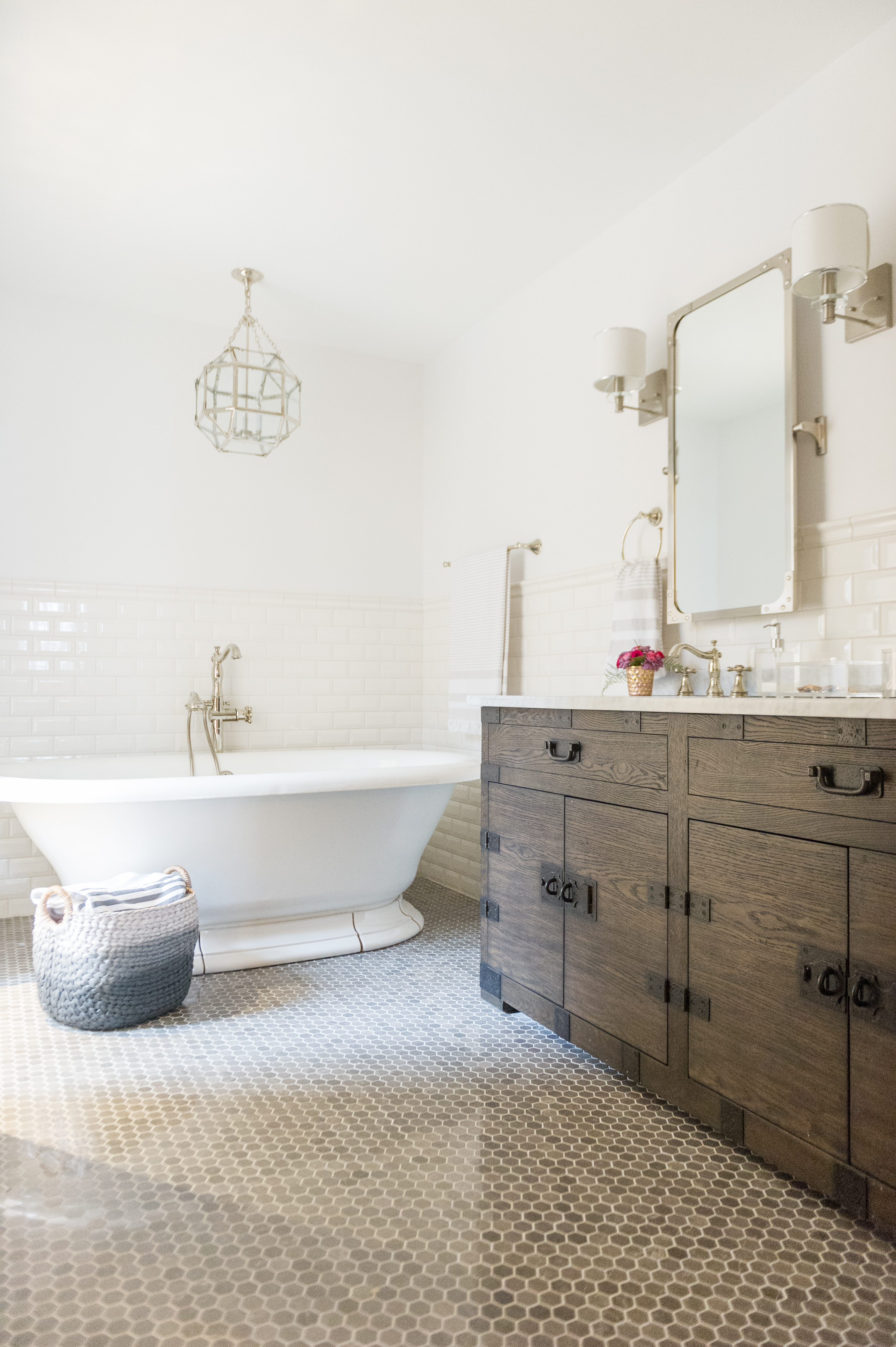 Modern French Country Ensuite Renovation Reveal The Leslie Style