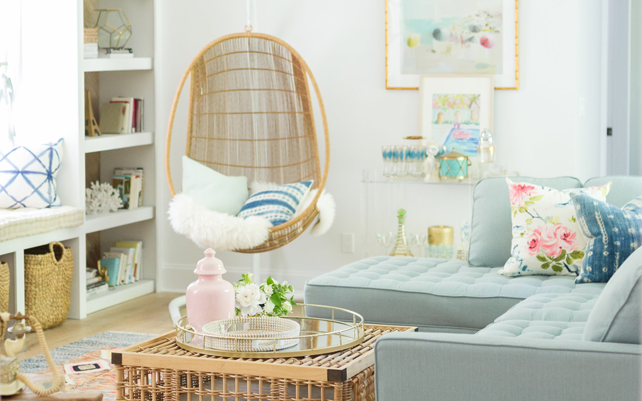 One Room Challenge Reveal: Vintage Summer Family Room