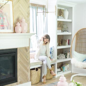 One Room Challenge Reveal: Vintage Summer Family Room