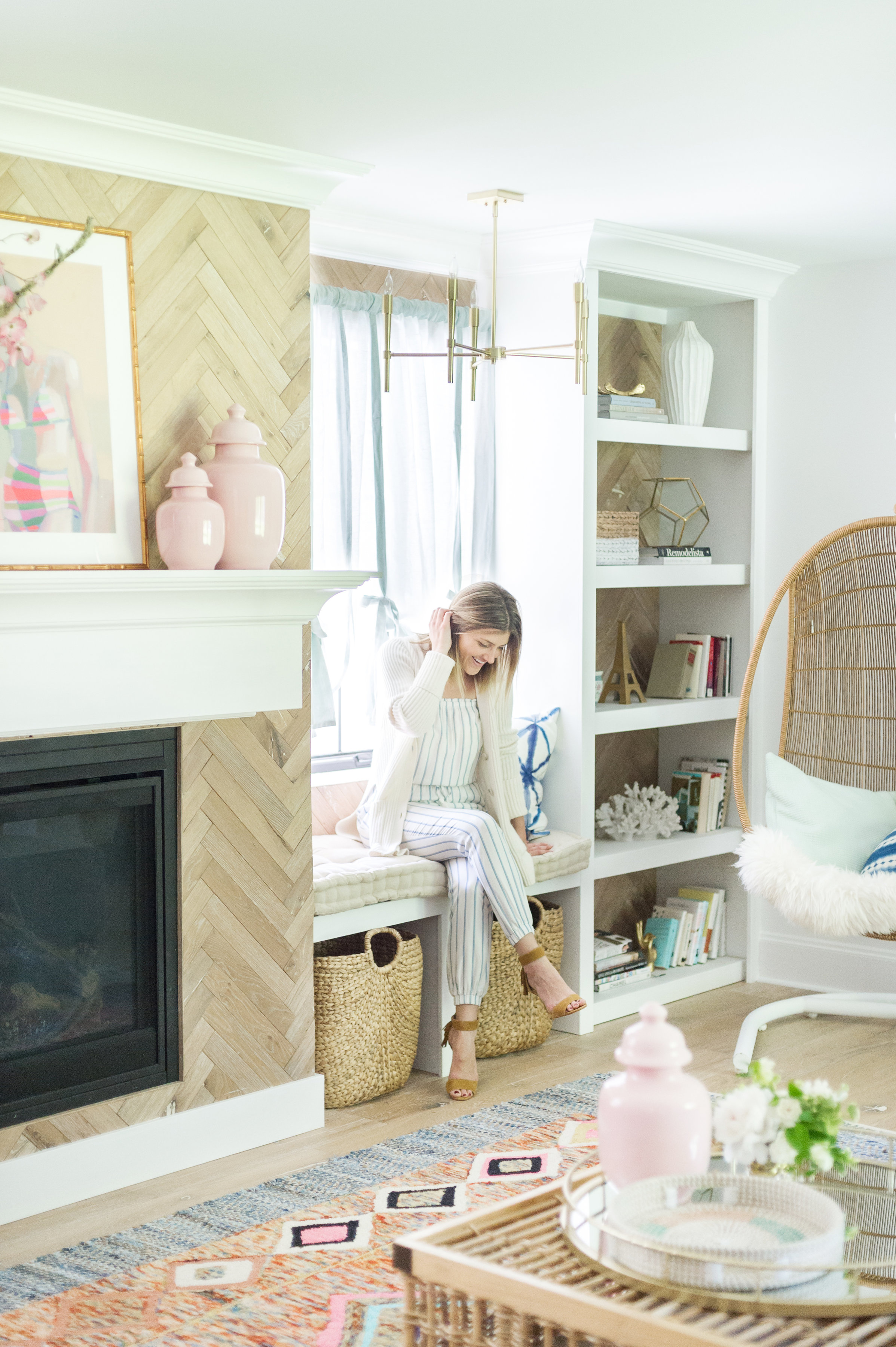 One Room Living One Room Challenge Reveal Vintage Summer Family Room The Leslie