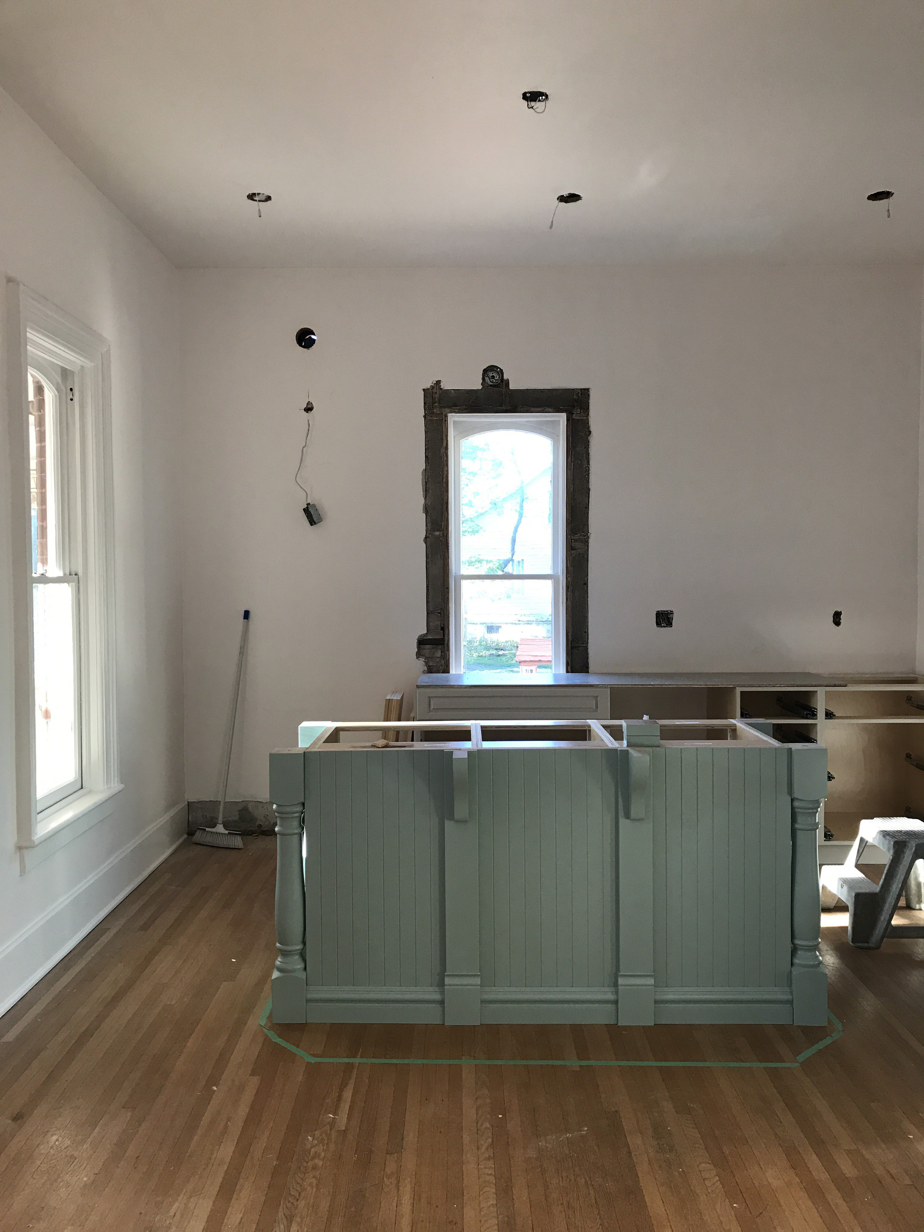 Wythe Blue Kitchen Island