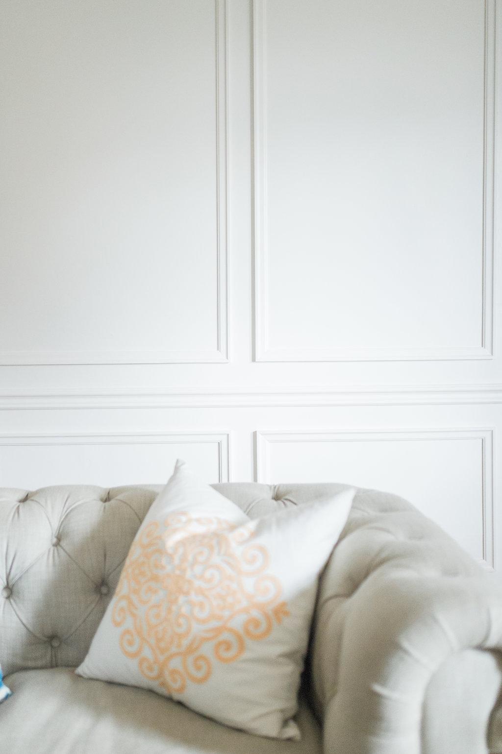 Modern Parisian Living Room Reveal: Wainscoting, Paint ... - photo#17