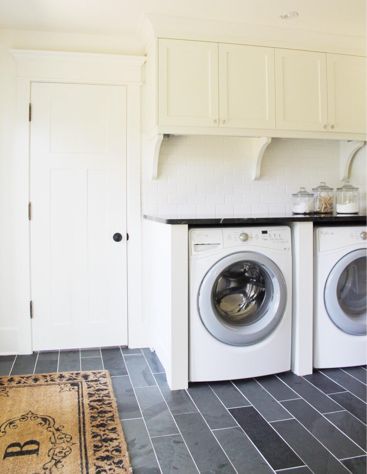 Classic Black And White Laundry Room Renovation The