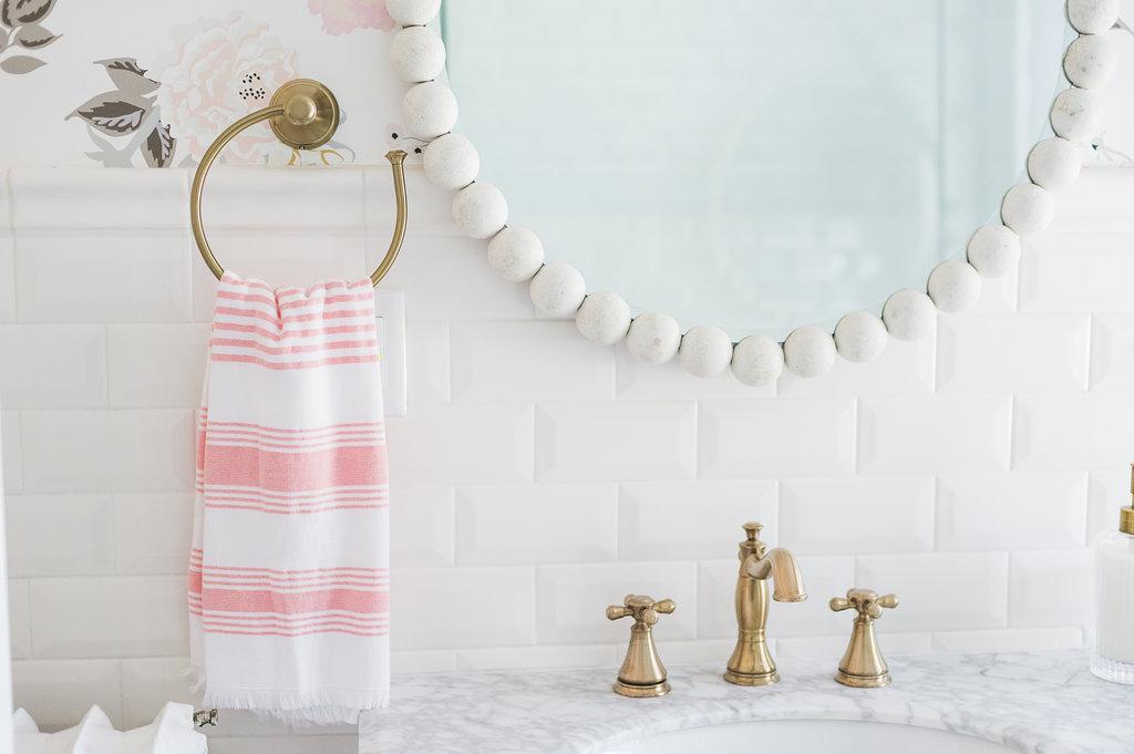 Airy Modern Feminine Bathroom Renovation Reveal The