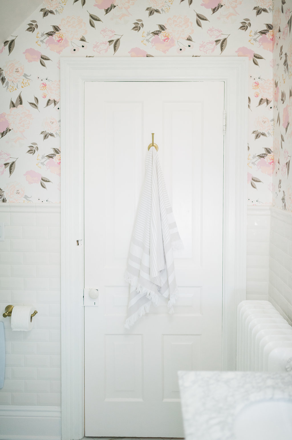 Airy Modern Feminine Bathroom Renovation Reveal The