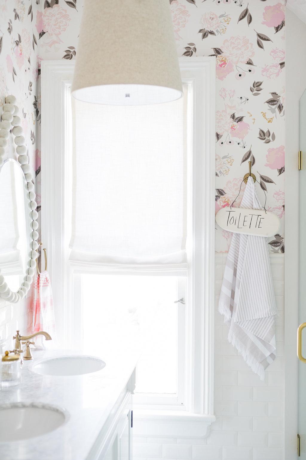Airy Modern Feminine Bathroom Renovation Reveal The Leslie Style