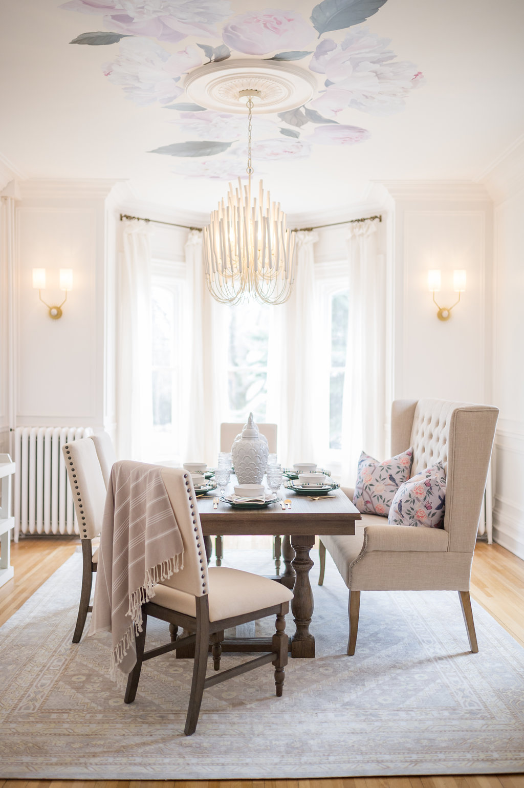The Leslie Style Dining Room Transitional Glam