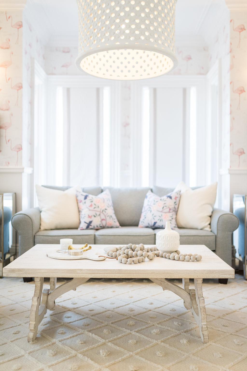 the leslie style glam transitional living room wooden heart prayer ...