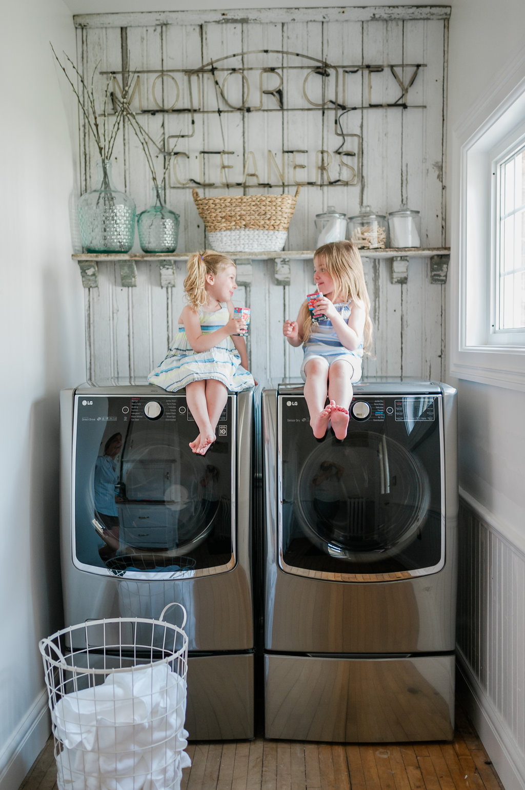 Salvaged Farmhouse Laundry Room Renovation Reveal The Leslie Style