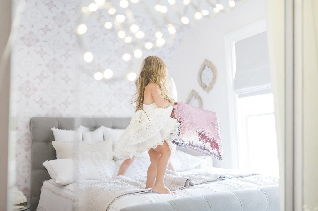 Boho Glam Big Girl Bedroom Reveal The Leslie Style