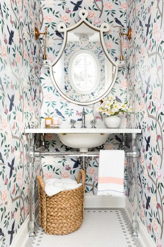 Chinoiserie Powder Room Get The Look Leslie Style